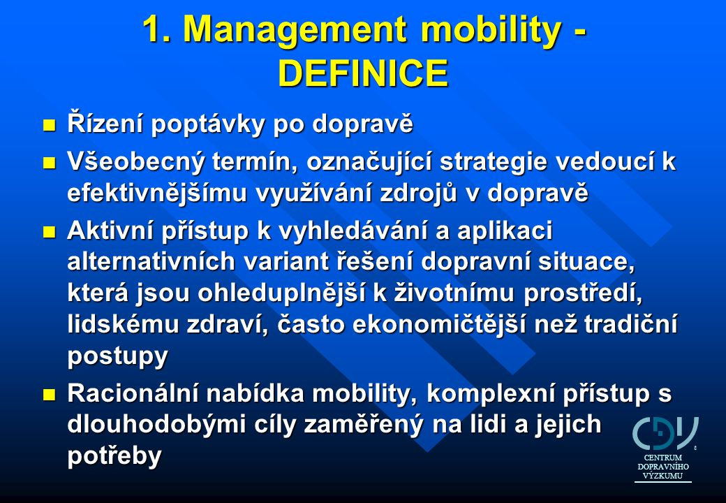 1. Management mobility - DEFINICE