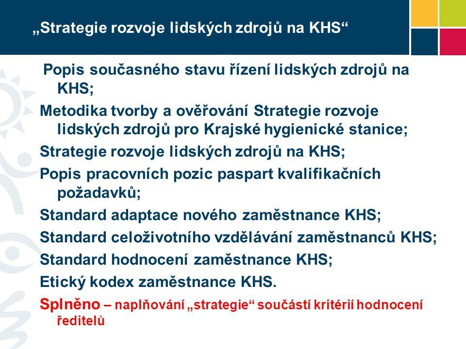 """""""Strategie rozvoje lidských zdrojů na KHS"""