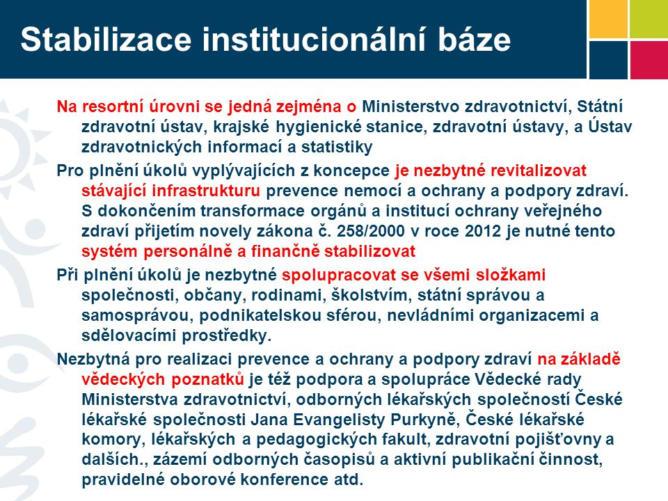 Stabilizace institucionální báze