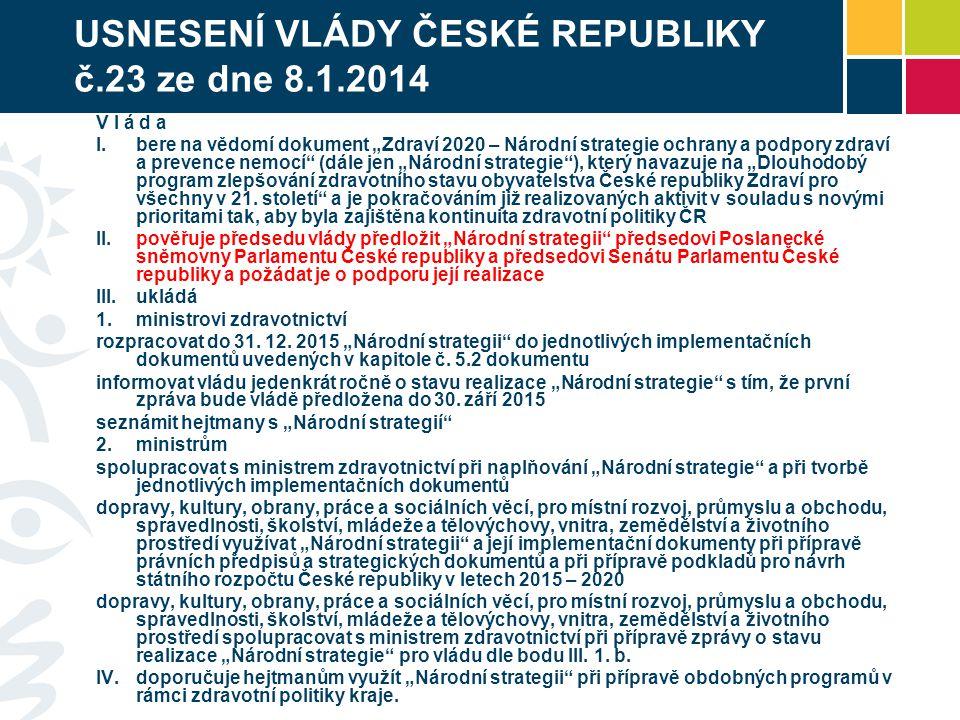 USNESENÍ VLÁDY ČESKÉ REPUBLIKY č.23 ze dne 8.1.2014