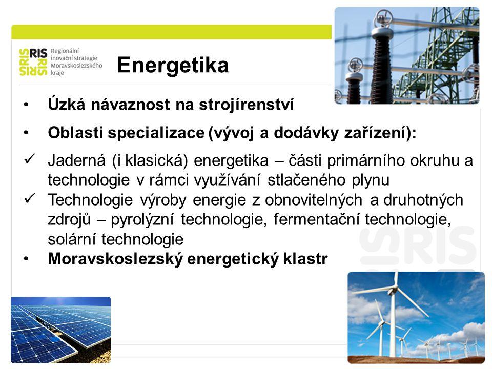 Energetika Úzká návaznost na strojírenství