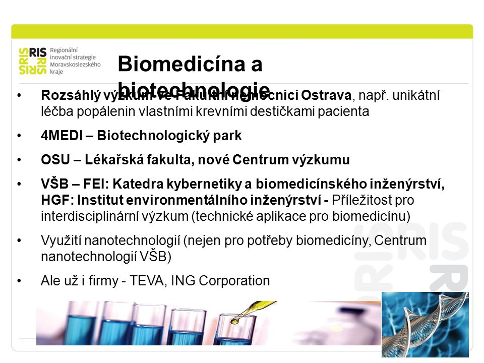 Biomedicína a biotechnologie
