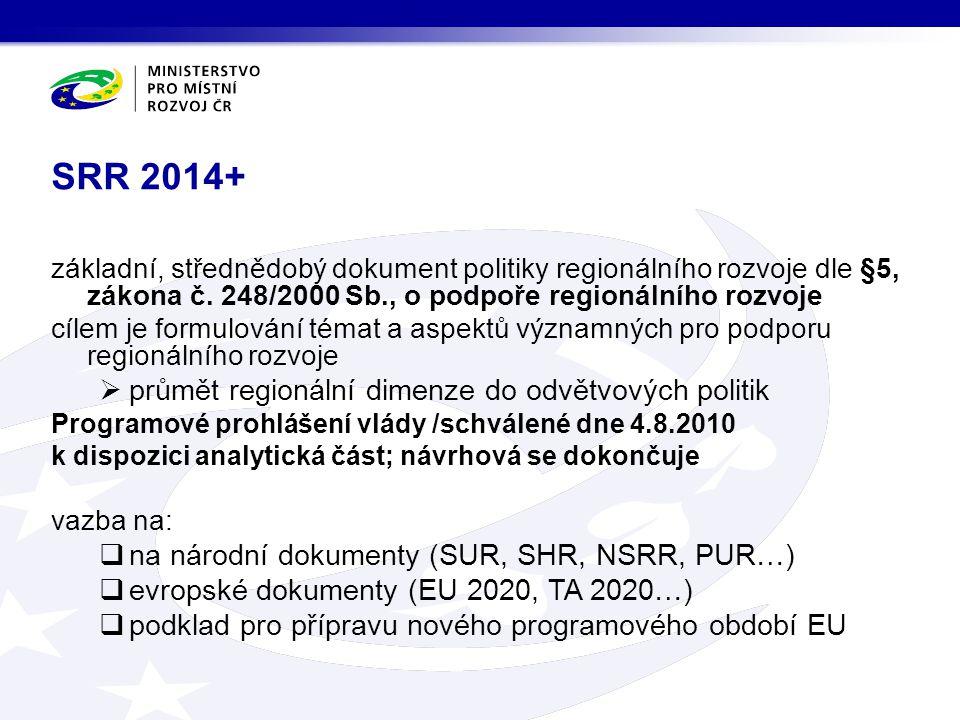 SRR 2014+ průmět regionální dimenze do odvětvových politik
