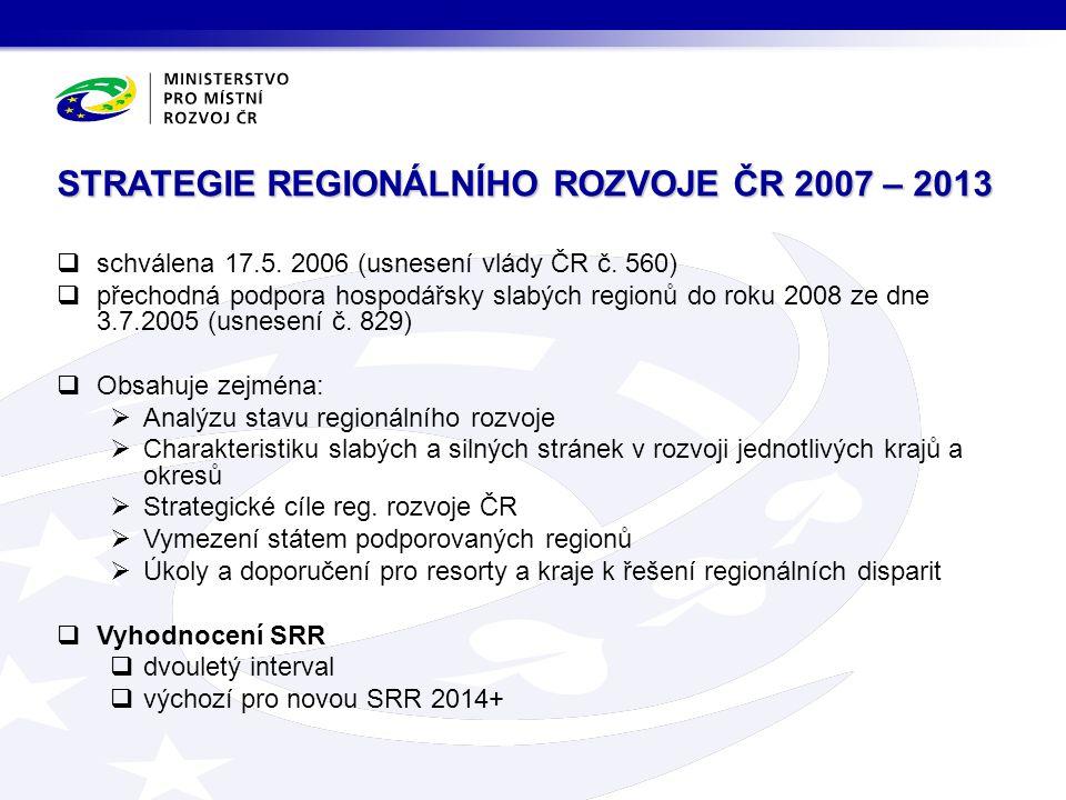 STRATEGIE REGIONÁLNÍHO ROZVOJE ČR 2007 – 2013