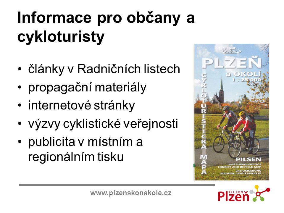 Informace pro občany a cykloturisty