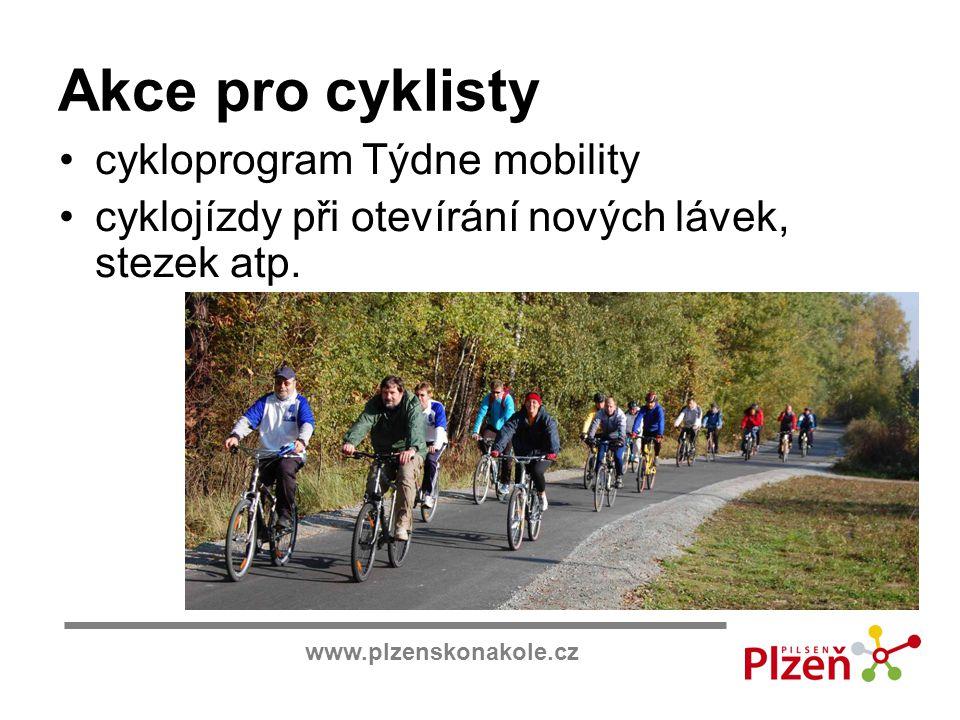 Akce pro cyklisty cykloprogram Týdne mobility