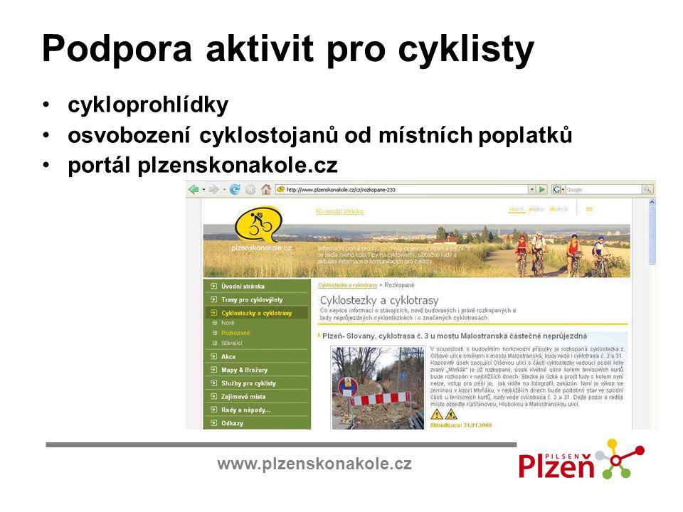 Podpora aktivit pro cyklisty