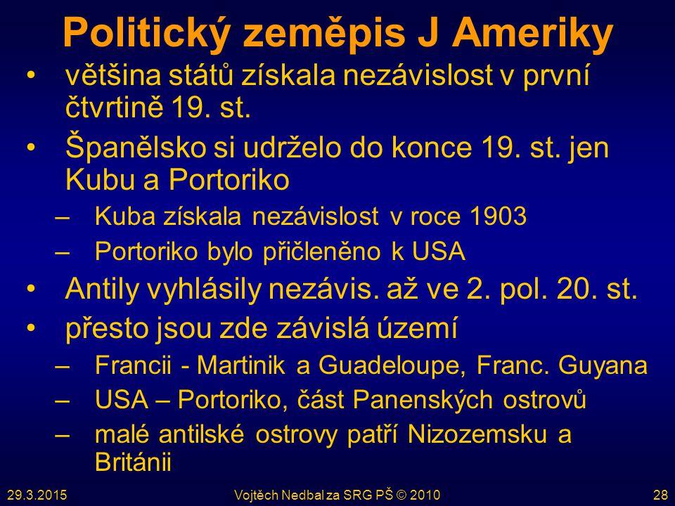 Politický zeměpis J Ameriky