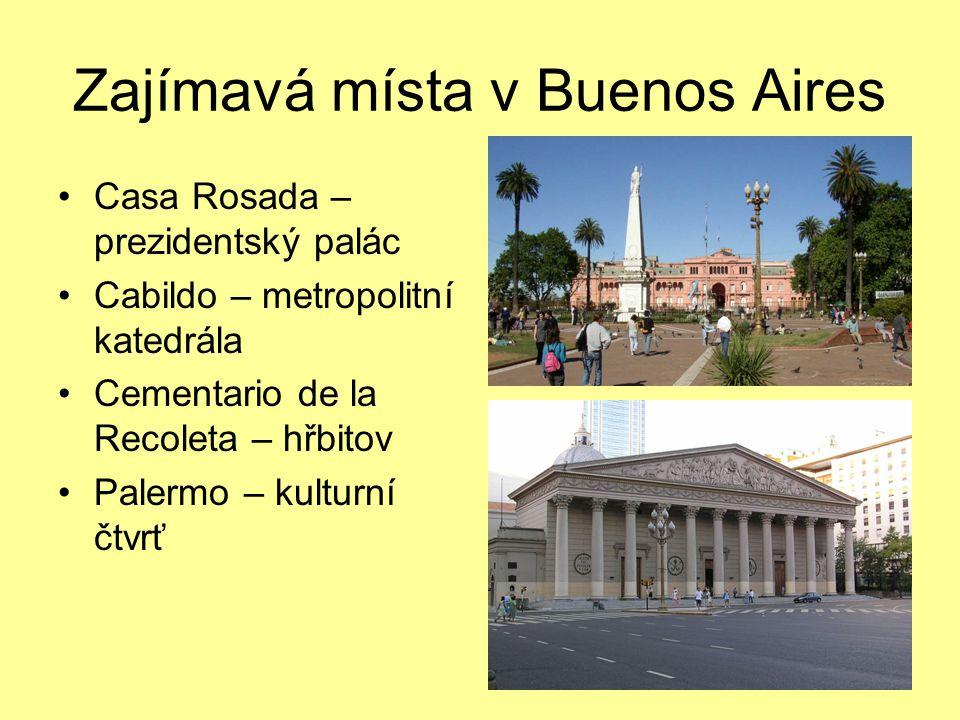 Zajímavá místa v Buenos Aires