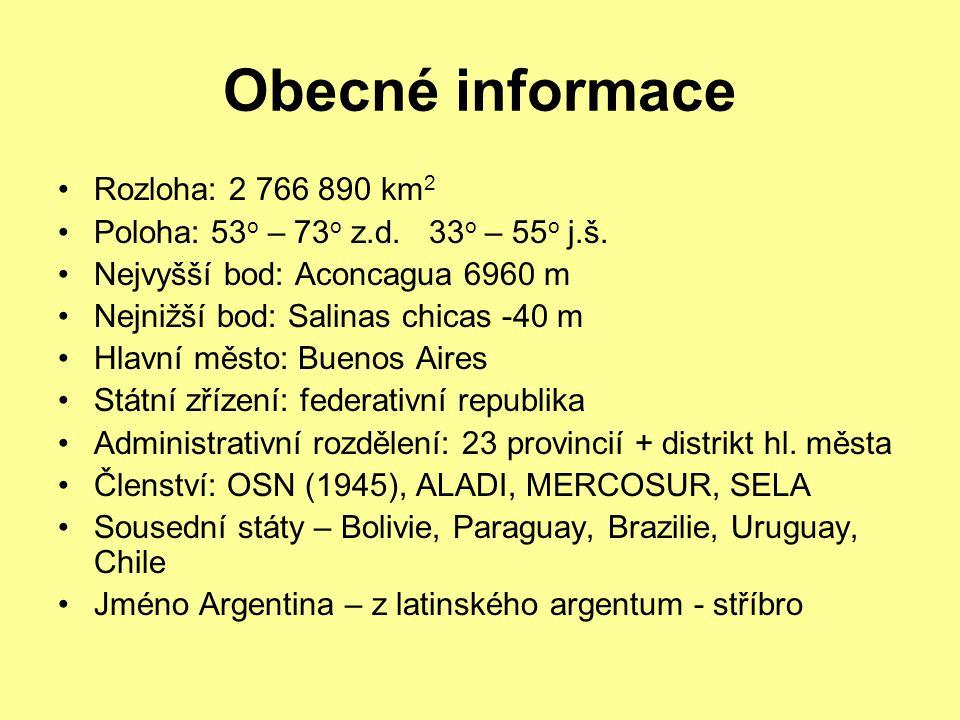 Obecné informace Rozloha: 2 766 890 km2