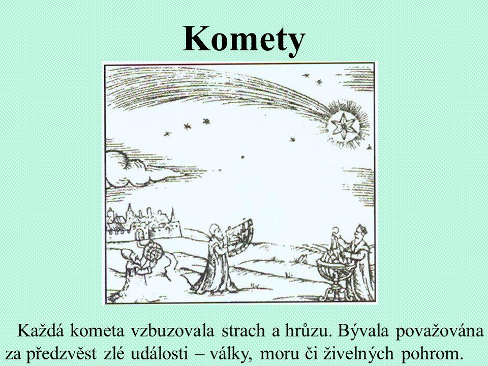 Komety Každá kometa vzbuzovala strach a hrůzu.