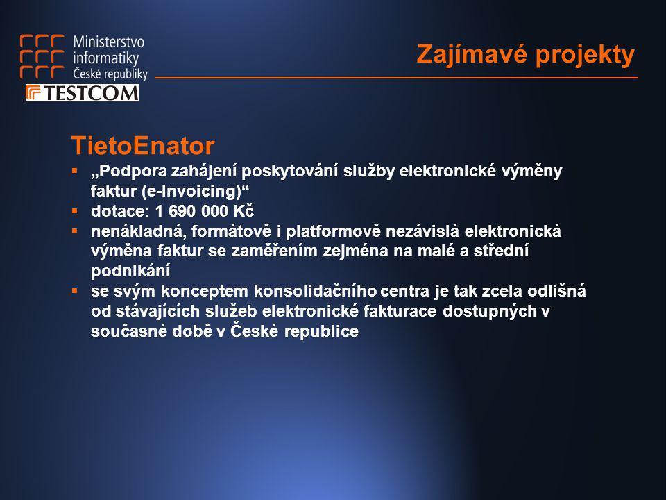 Zajímavé projekty TietoEnator