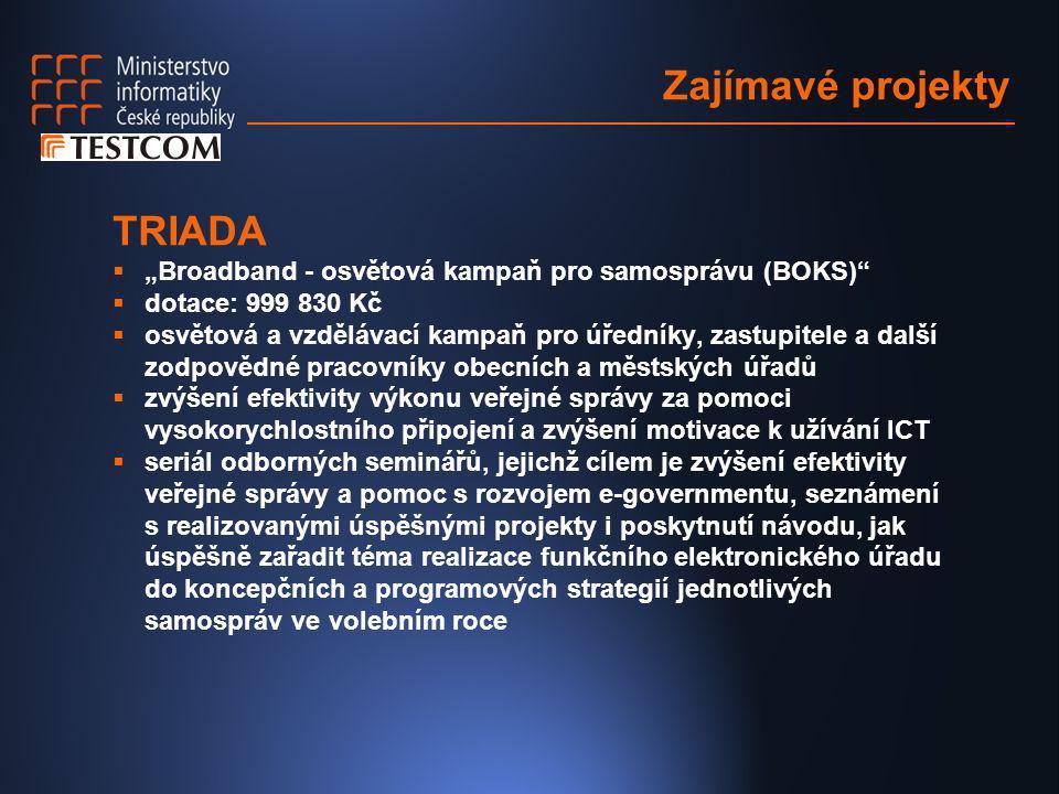 Zajímavé projekty TRIADA