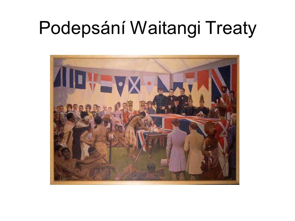 Podepsání Waitangi Treaty