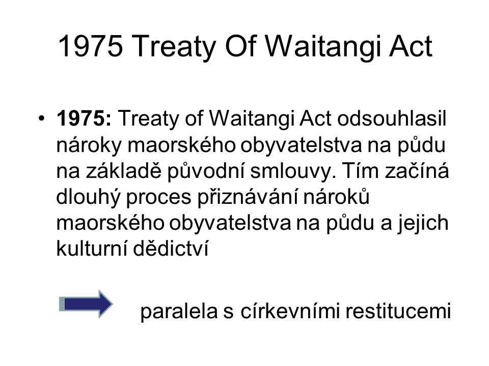 1975 Treaty Of Waitangi Act