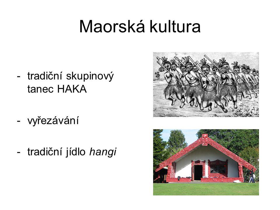 Maorská kultura tradiční skupinový tanec HAKA vyřezávání