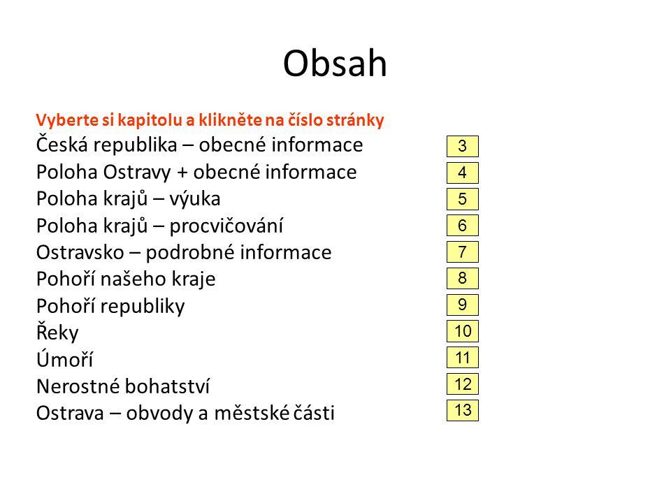 Obsah Česká republika – obecné informace