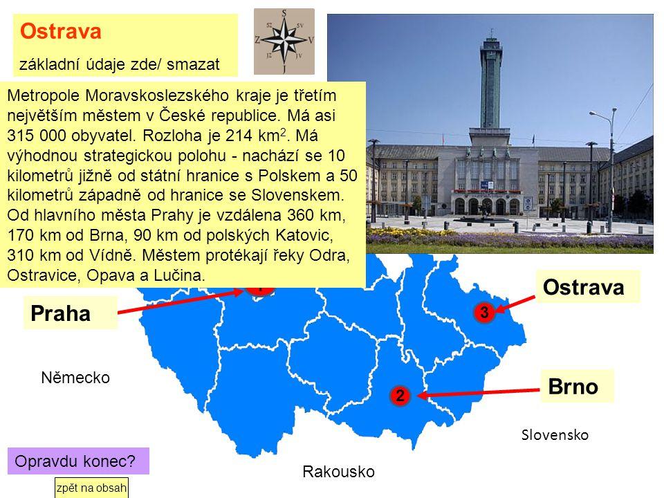 Kde je Ostrava Klikni na červený bod