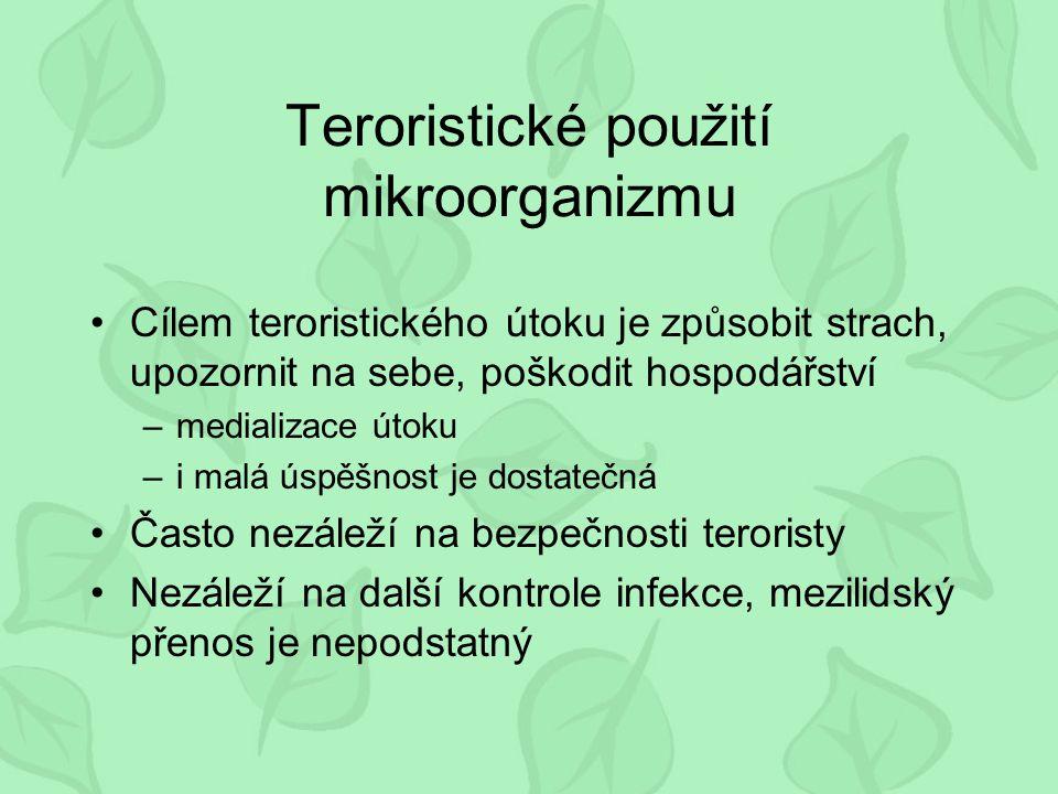 Teroristické použití mikroorganizmu