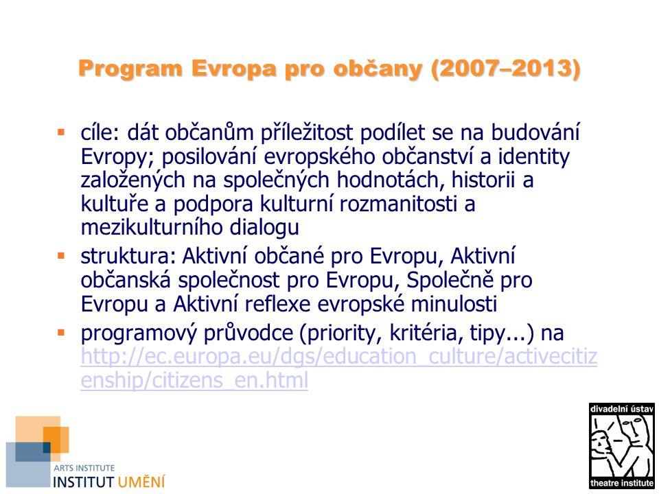 Program Evropa pro občany (2007–2013)