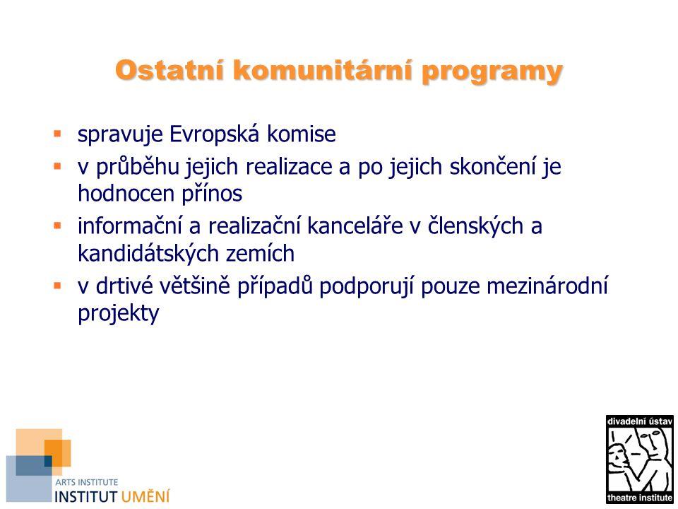 Ostatní komunitární programy