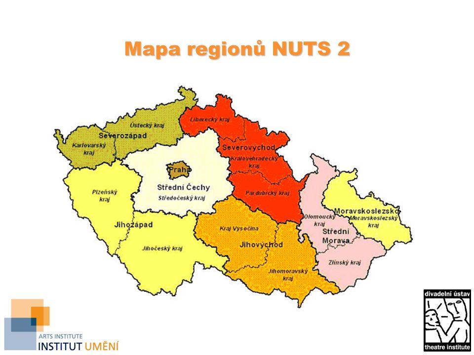 Mapa regionů NUTS 2