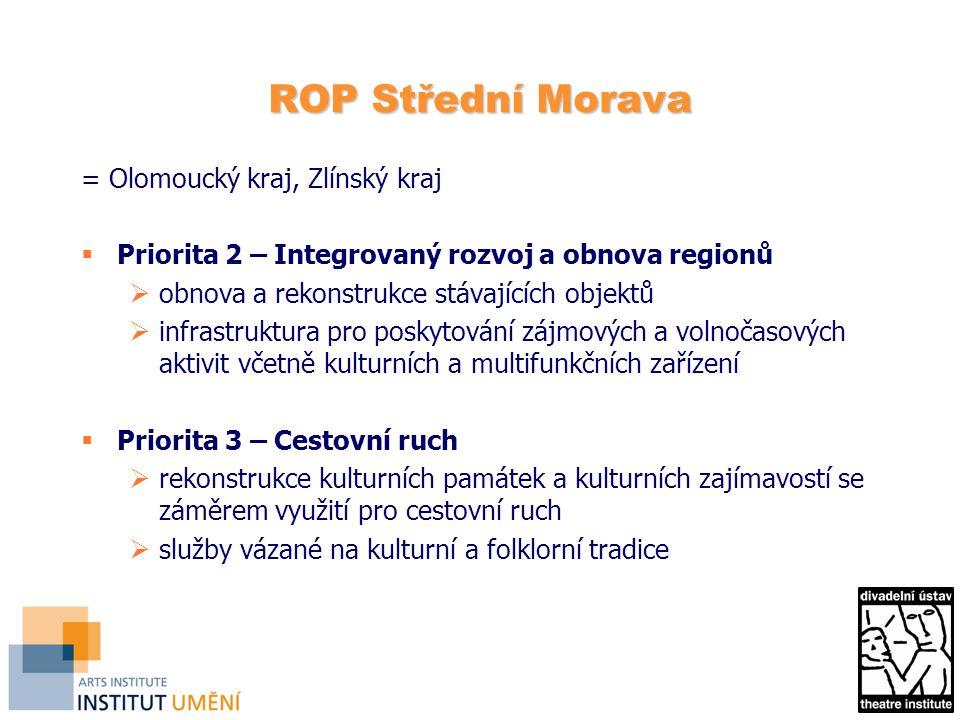 ROP Střední Morava = Olomoucký kraj, Zlínský kraj