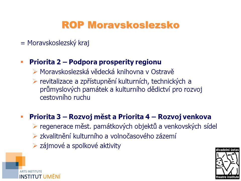 ROP Moravskoslezsko = Moravskoslezský kraj