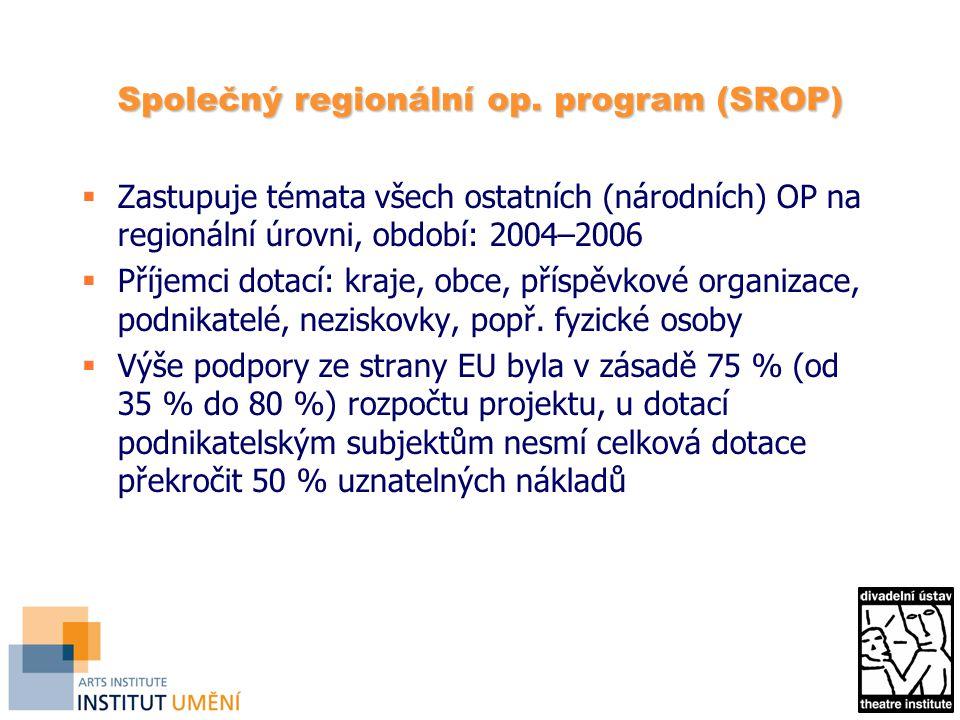 Společný regionální op. program (SROP)