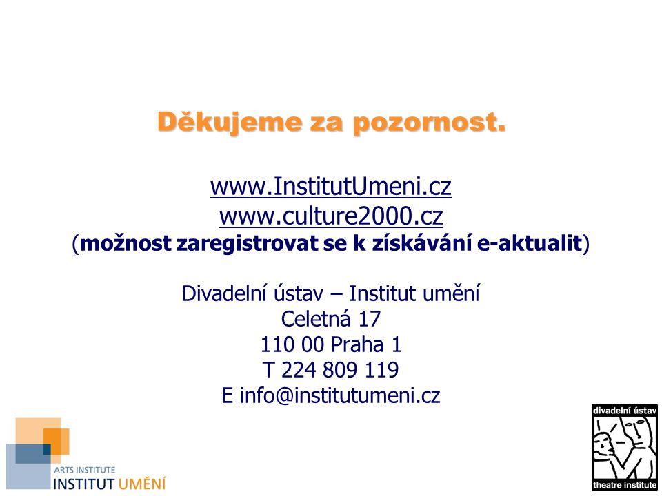 Děkujeme za pozornost. www. InstitutUmeni. cz www. culture2000