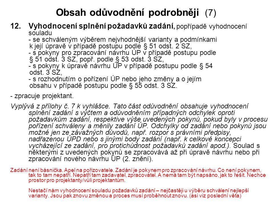 Obsah odůvodnění podrobněji (7)