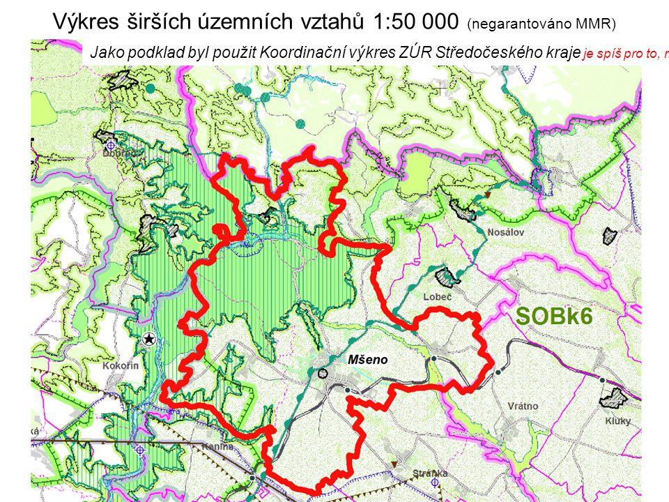 Výkres širších územních vztahů 1:50 000 (negarantováno MMR)