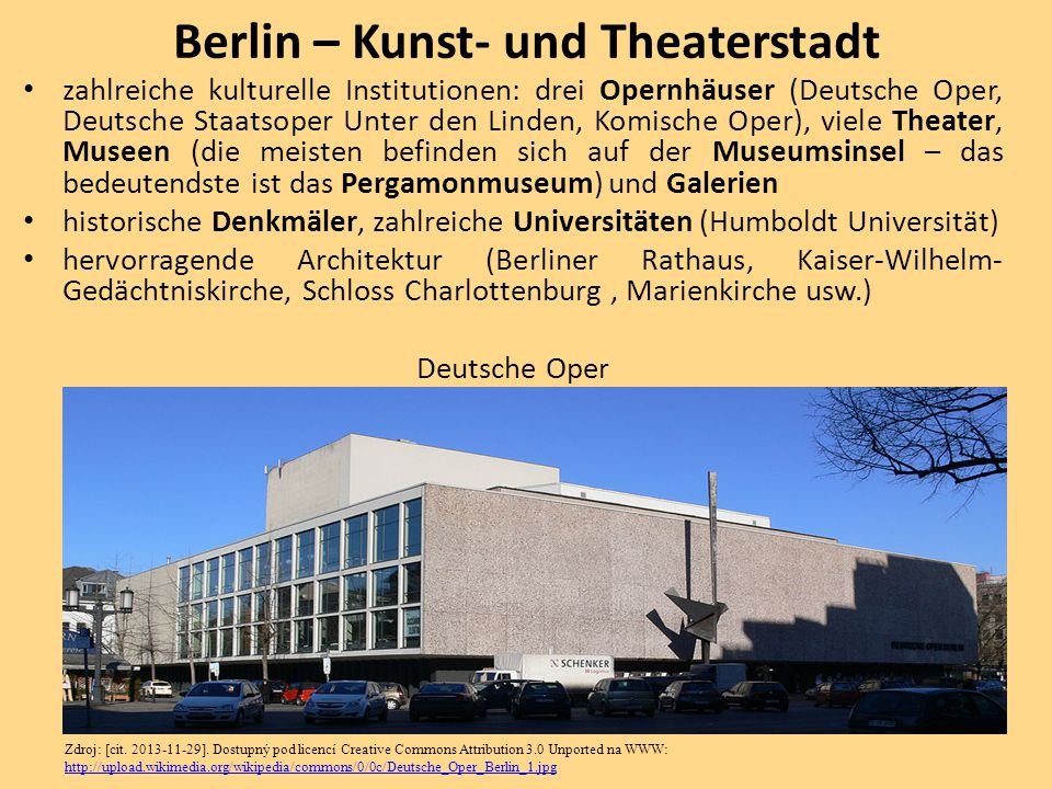 Berlin – Kunst- und Theaterstadt