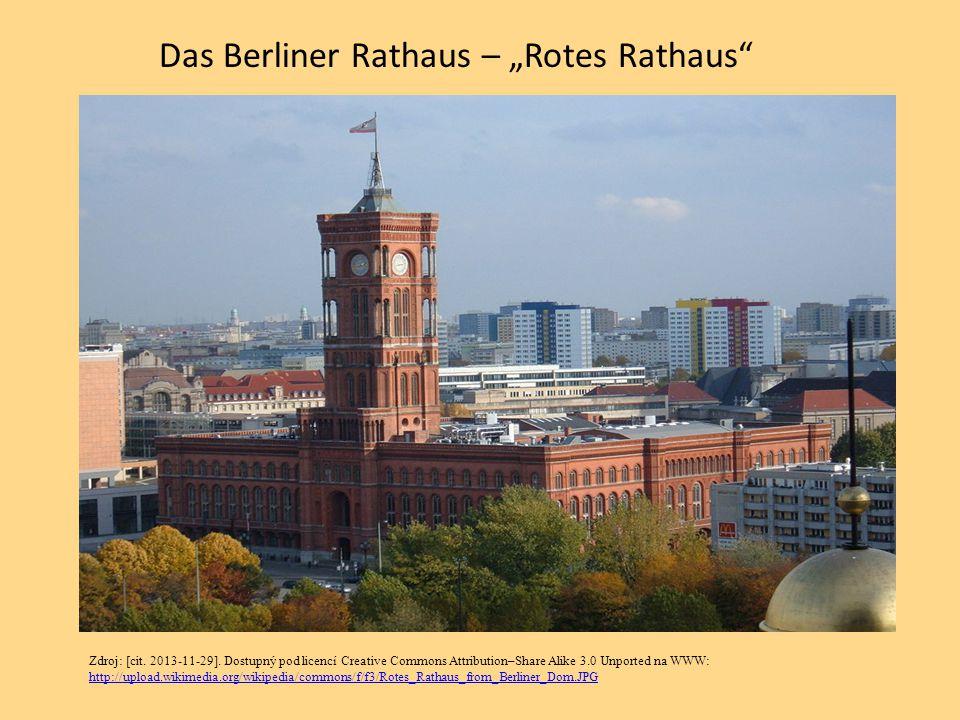 "Das Berliner Rathaus – ""Rotes Rathaus"