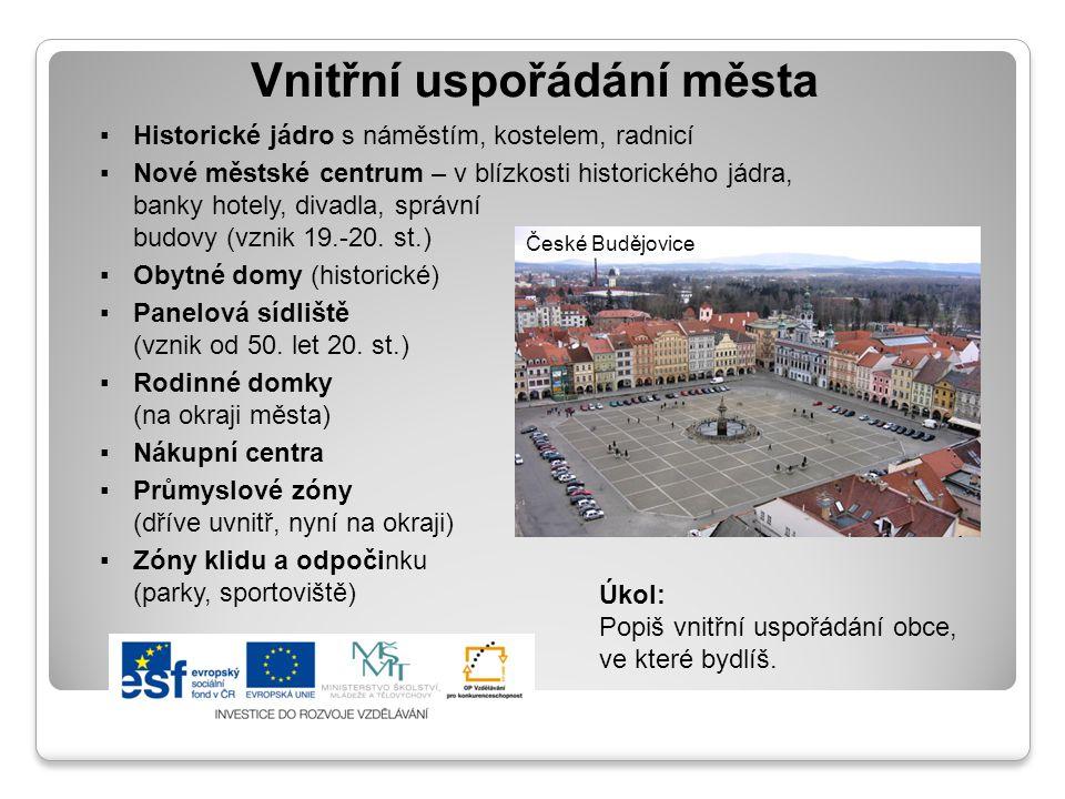 Vnitřní uspořádání města