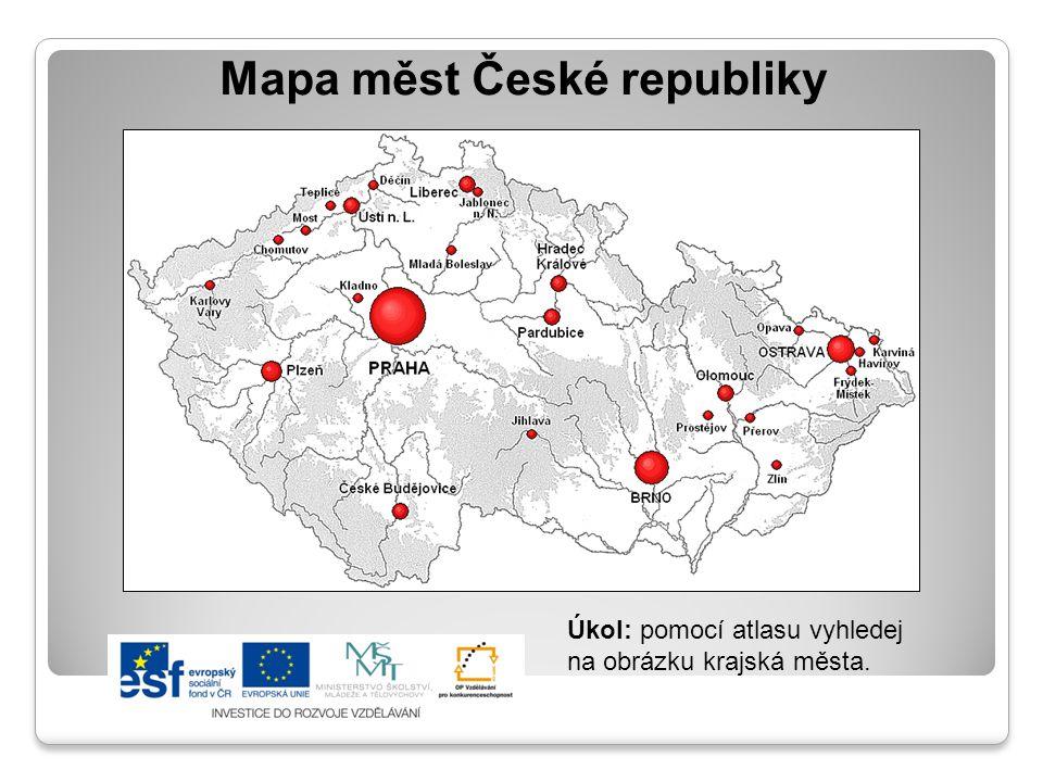 Mapa měst České republiky