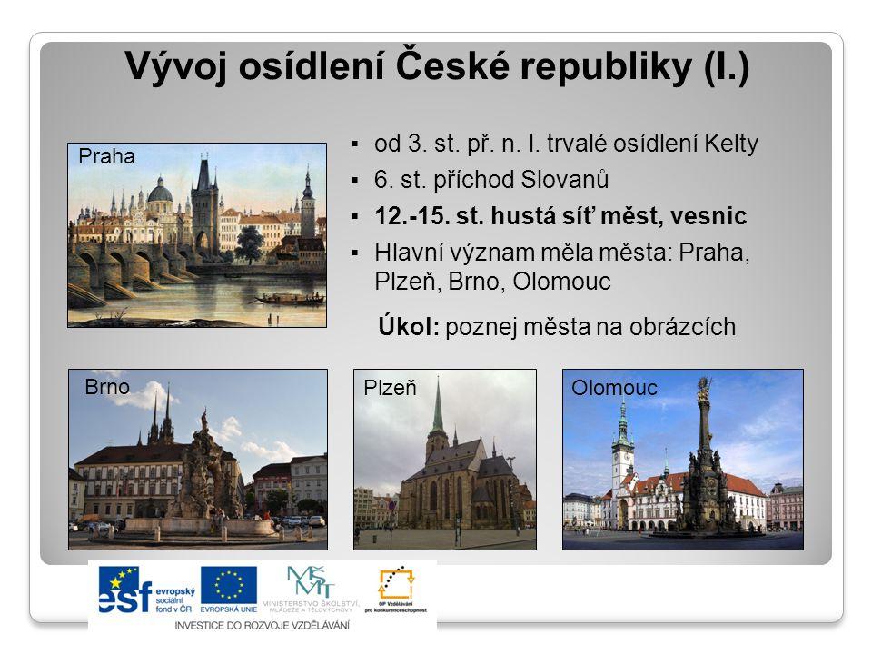 Vývoj osídlení České republiky (I.)