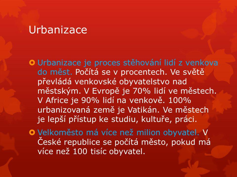 Urbanizace