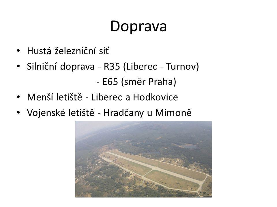 Doprava Hustá železniční síť Silniční doprava - R35 (Liberec - Turnov)