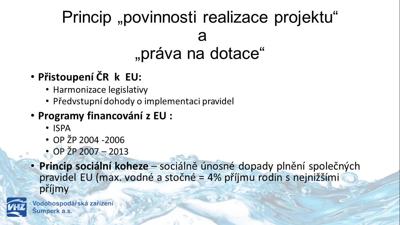 """Princip """"povinnosti realizace projektu a """"práva na dotace"""