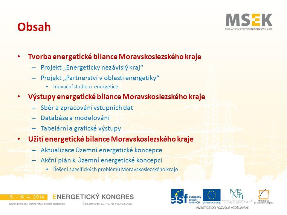 Obsah Tvorba energetické bilance Moravskoslezského kraje