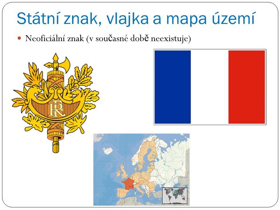 Státní znak, vlajka a mapa území
