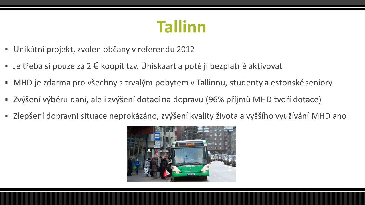 Tallinn Unikátní projekt, zvolen občany v referendu 2012