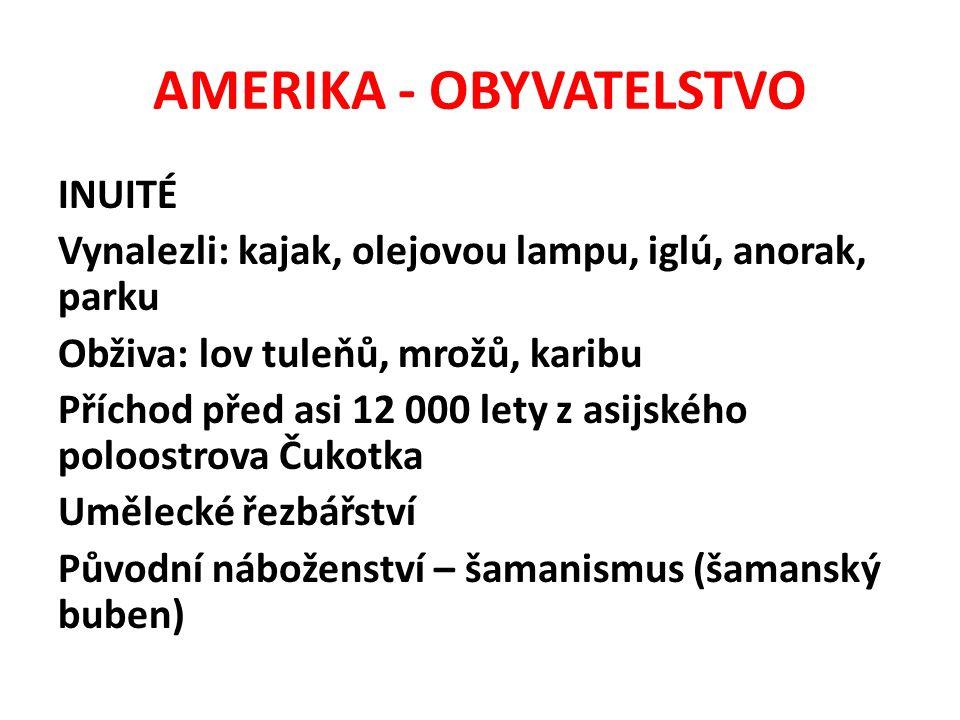 AMERIKA - OBYVATELSTVO