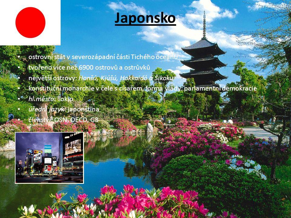 Japonsko ostrovní stát v severozápadní části Tichého oceánu