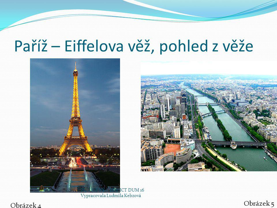 Paříž – Eiffelova věž, pohled z věže