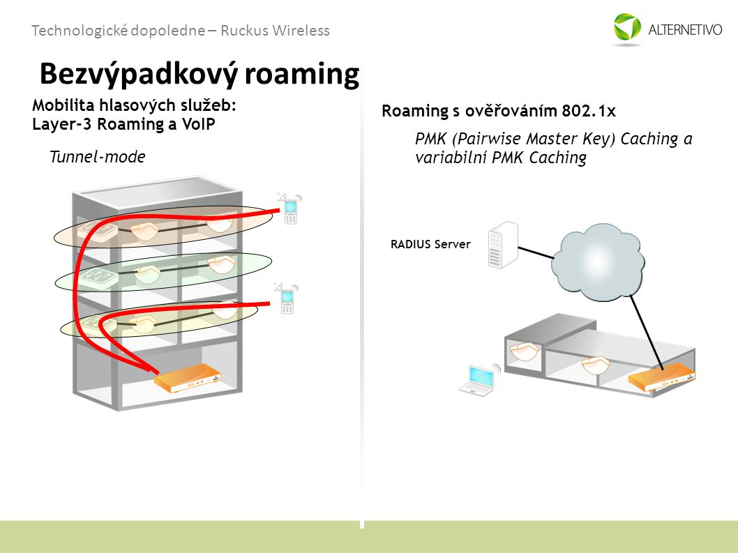 Bezvýpadkový roaming Mobilita hlasových služeb: