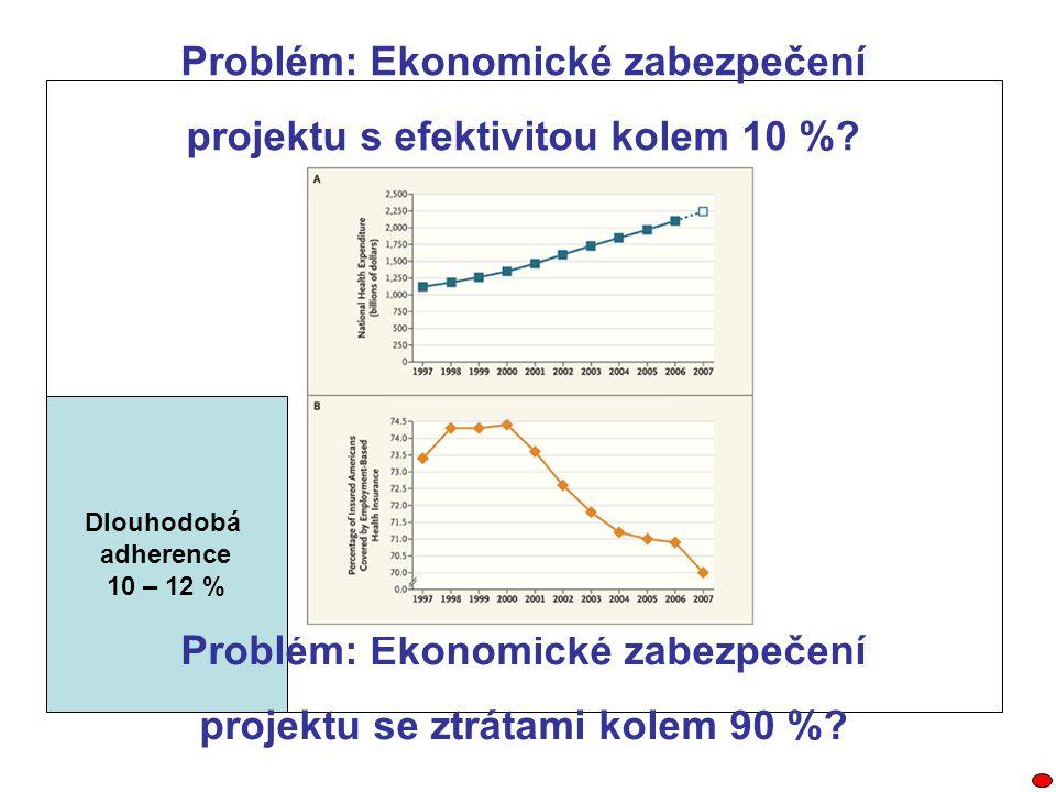 Problém: Ekonomické zabezpečení projektu s efektivitou kolem 10 %