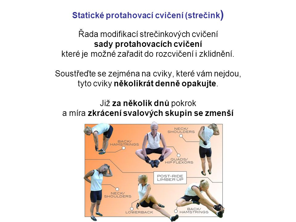 Statické protahovací cvičení (strečink)