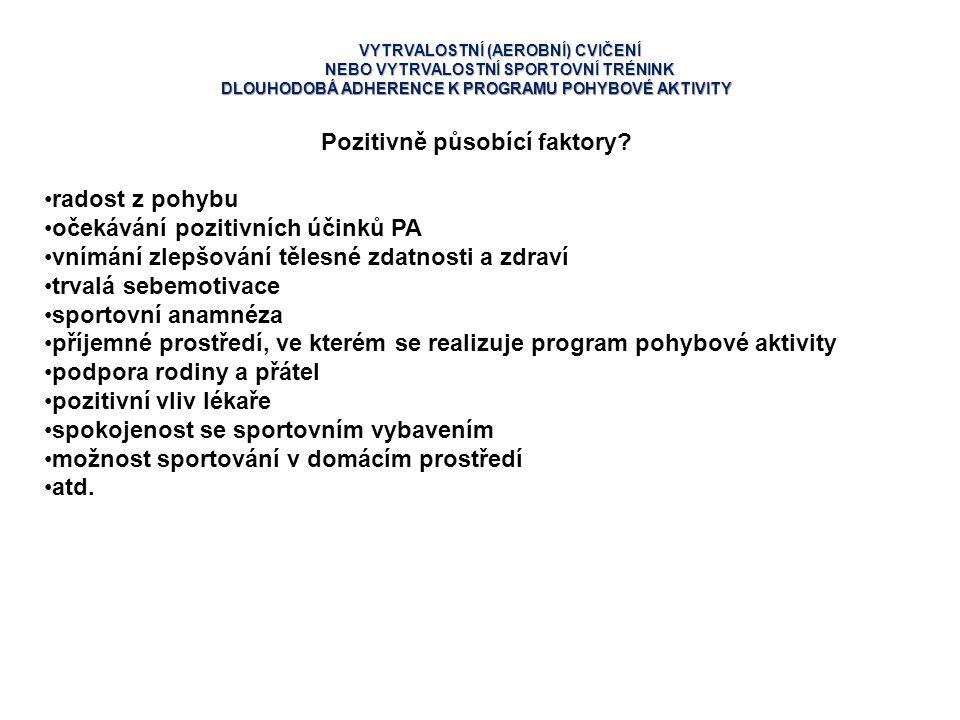 Pozitivně působící faktory